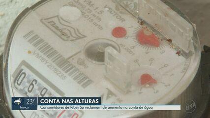 Consumidores de Ribeirão Preto, SP, reclamam de aumento na conta de água