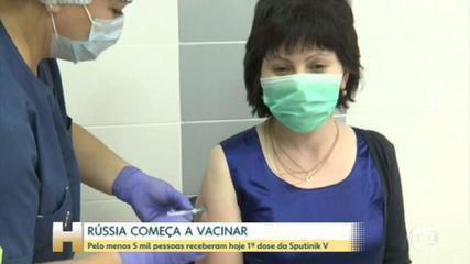 Rusia es el primer país del mundo en iniciar la vacunación masiva contra Covid -19