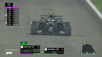 Bottas e Russell superam tempo de Verstappen no Q3