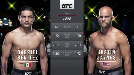 UFC Hermansson x Vettori - Gabriel Benitez x Justin Jaynes