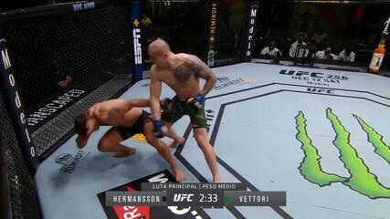 Melhores momentos do UFC Hermansson x Vettori