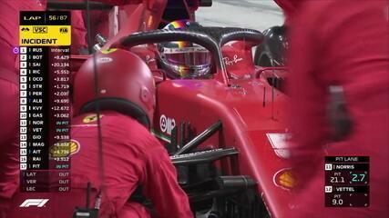 Sakhir GP: os motoristas aproveitam a oportunidade para trocar pneus em um safety car virtual