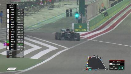 Sakhir GP: Russell faz outra parada e perde muitas posições