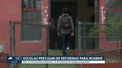 Escolas de São Paulo precisam de reformas para reabrir