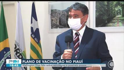Wellington Dias fala sobre estratégias e possíveis prazos para a vacinação contra a Covid