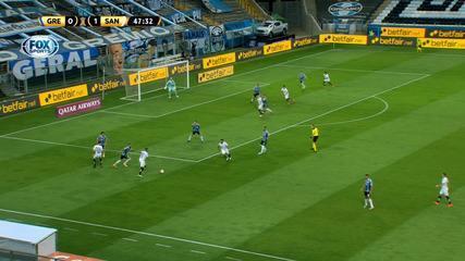 Melhores momentos de Grêmio 1 x 1 Santos pelas quartas de final da Libertadores