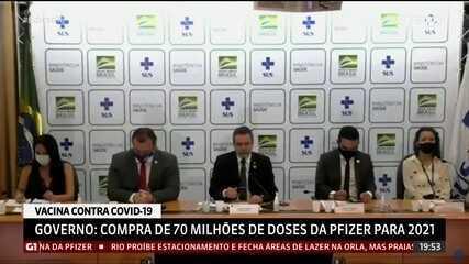 Ministério da Saúde diz que intenção de compra da vacina da Pfizer foi assinado