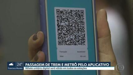 Passagem de trem e metrô pelo aplicativo: bilhete unitário digital será válido em todas as estações