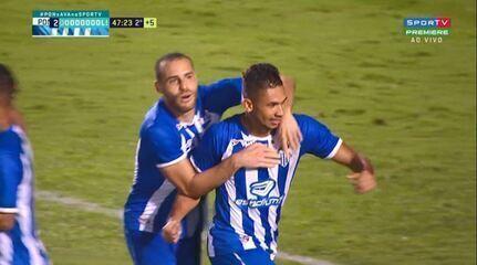 Os gols de Ponte Preta 1 x 2 Avaí, pela 28ª rodada da Série B