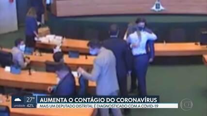 Mais um deputado distrital é diagnosticado com a Covid-19; Hermeto participou de sessão, ficou sem máscara e cumprimentou colegas