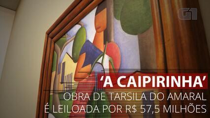 VÍDEO: Conheça 'A Caipirinha', quadro de Tarsila do Amaral leiloado em R$ 57,5 milhões