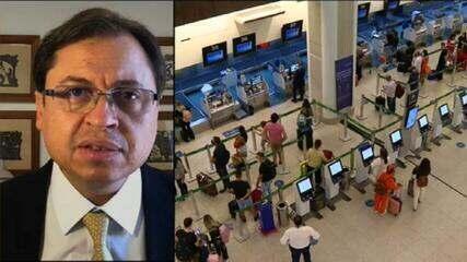 Gerson Camarotti sobre restrições em aeroportos: 'Foi uma decisão que o governo tomou pressionado'
