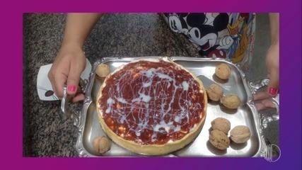 Receita de Natal: torta de ricota com nozes e goiabada