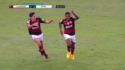 Os gols de Flamengo 4 x 3 Bahia, pela 26ª rodada do Brasileirão
