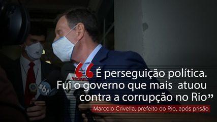 VÍDEO: Preso, Crivella nega acusações de corrupção: 'Perseguição política'