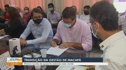 Inicia a transição entre gestões em Macapá, com reunião entre equipes de Clécio e Furlan