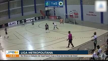Seleção Sapeense e Boi Bravo decidem Liga Metropolitana de Futsal nesta terça-feira
