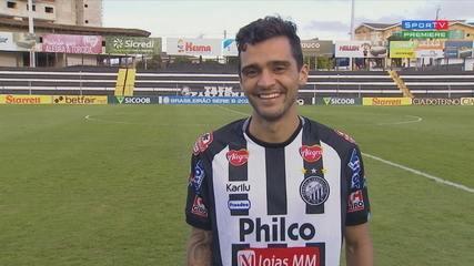 Rafael Oller analisa lance do gol e fala sobre a vitória em cima do Juventude