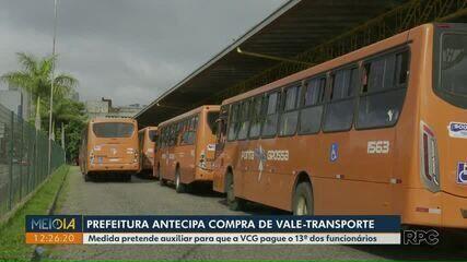 Prefeitura de Ponta Grossa antecipa compra de vale-transporte de servidores municipais