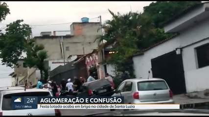 Aglomeração: festa lotada em Santa Luzia termina em confusão