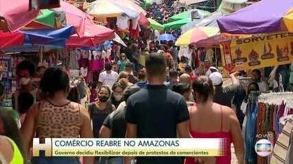 No Amazonas, lojistas puderam reabrir as portas a partir de hoje.