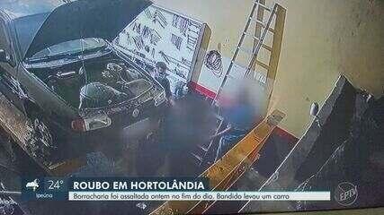 Bandido assalta borracharia e furta carro em Hortolândia