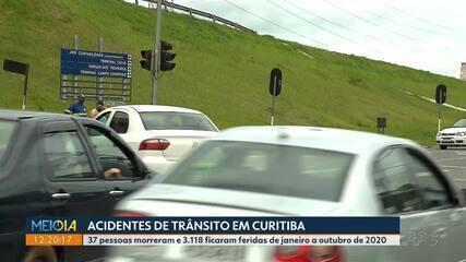 Saiba quais são as ruas que mais registram acidentes em Curitiba