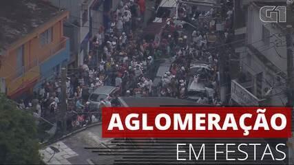 VÍDEO: Flagrante mostra aglomeração em festas nas zonas Norte e Oeste de São Paulo