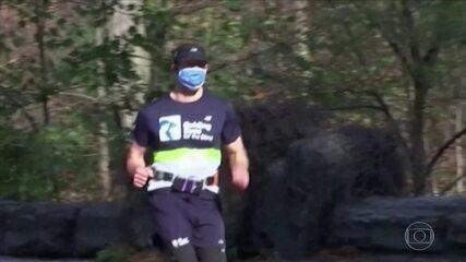 Tecnologia ajuda atleta cego a correr sem guia