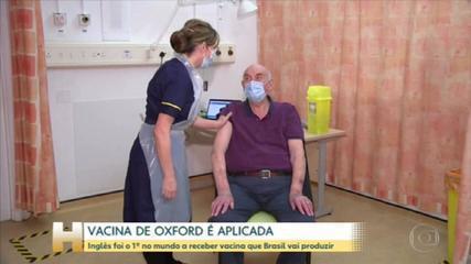 Reino Unido aplica primeira dose da vacina de Oxford