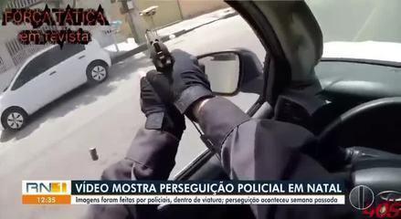 Vídeo mostra perseguição de policiais militares a bandidos em Natal