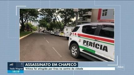 Homem é morto a tiros no Centro de Chapecó