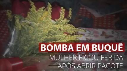 VÍDEO: Mulher recebe bomba escondida em buquê de flores em Francisco Morato, SP