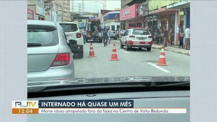 Morre idoso atropelado fora da faixa no Centro de Volta Redonda