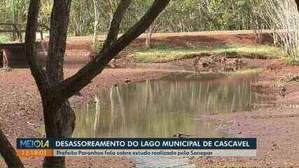 Prefeito de Cascavel critica Sanepar por causa do desassoreamento do lago