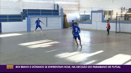 Saiba como Boi Bravo e Dókimos chegam para o jogo de ida da final do Paraibano de Futsal