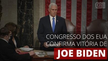 VÍDEO: Congresso americano confirma eleição de Joe Biden