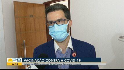 Estado da Paraíba tem estoque de seringas e aguarda autorização para adquirir vacinas
