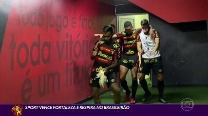 Sport vence o Fortaleza e se distancia da zona de rebaixamento