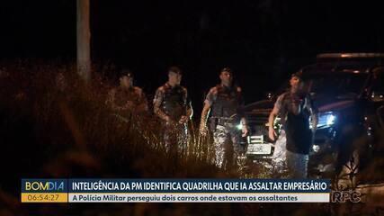 Inteligência da PM descobre planos de assalto contra empresário, em São José dos Pinhais