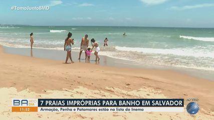 Aplicativo ajuda baianos e turistas a identificar praias impróprias para banho em Salvador