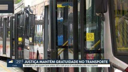 Justiça mantém gratuidade no transporte público para quem tem entre 60 e 64 anos