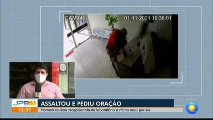 Homem assalta recepcionista e pede que vítima ore por ele, em Campina Grande