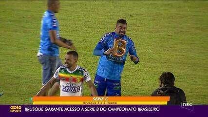 Brusque garante acesso à Série B do Brasileiro. Técnico Jersinho Testoni é fala ao GE
