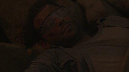 A mina explode e Cassiano fica preso