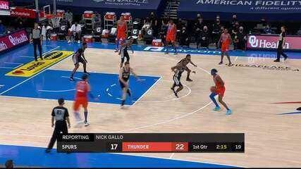Melhores momentos: San Antonio Spurs 112 x 102 Oklahoma City Thunder pela NBA