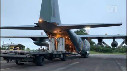Forças Armadas enviam cilindros de oxigênio para hospitais públicos de Manaus