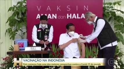 Indonésia começa a vacinar população contra a Covid-19 com a Coronavac