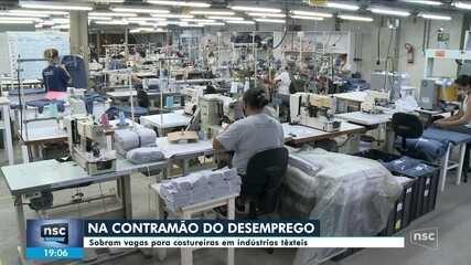 Indústrias têxteis têm vagas sobrando para costureiras