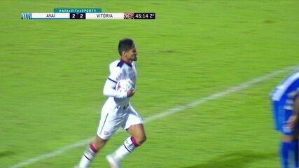 Os gols de Avaí 2 x 2 Vitória, pela 34ª rodada do Brasileirão Série B